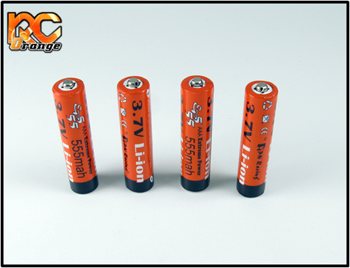 PN Racing - EP555 - Extreme Power 555mah Li-Ion 3.7V rechargeable AAA Batterie (4pcs)